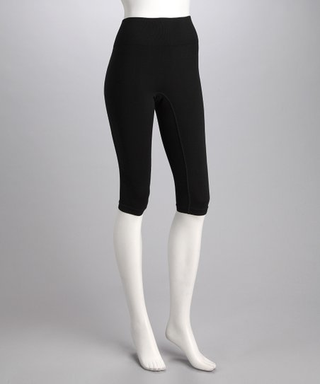 Black Slender Riding Capri Breeches - Women
