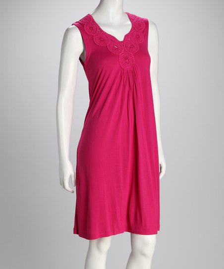 Rose Crocheted Sleeveless Dress