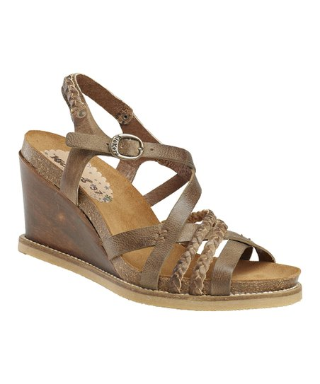 Dark Brown U-Feel Wedge Sandal - Women