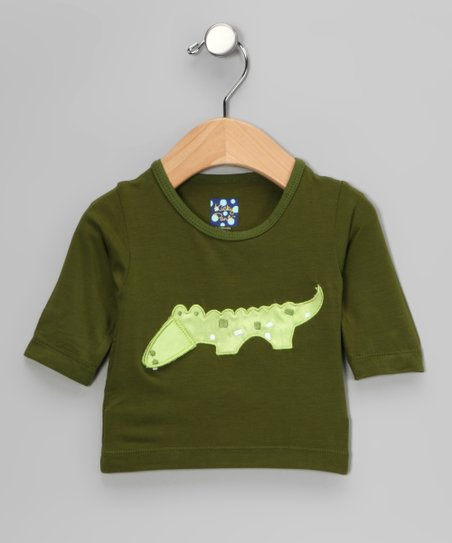 Green Crocodile Long-Sleeve Tee - Infant, Toddler &amp; Kids