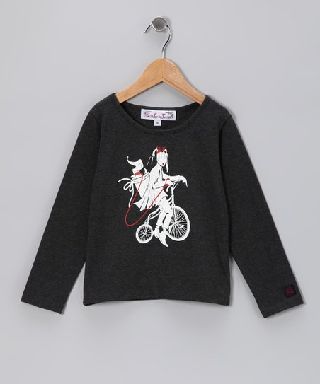 Charcoal Bicycle Tee - Toddler & Girls