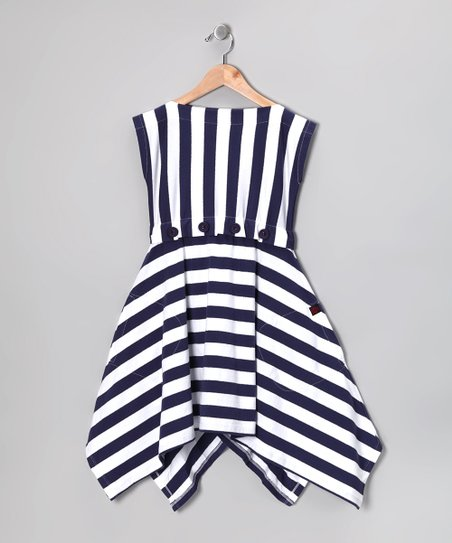 Nautical White Monica Dress - Toddler & Girls