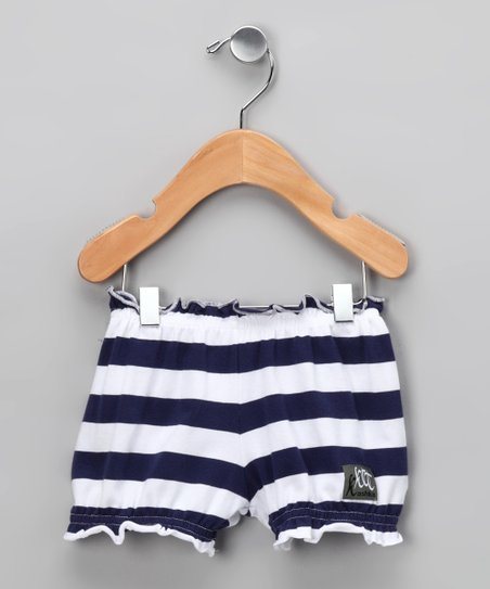 Nautical White Flower Bloomers - Infant