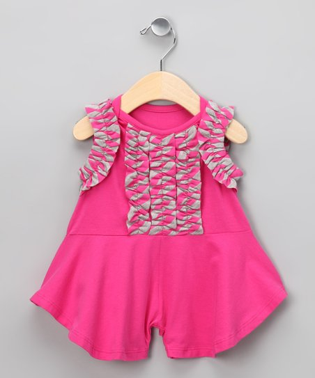 Raspberry Magnolia Romper - Infant