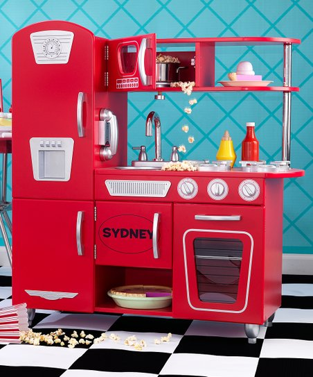 KidKraft Red Personalized Vintage Kitchen