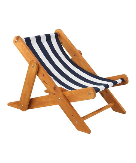 Navy Stripe Sling Chair