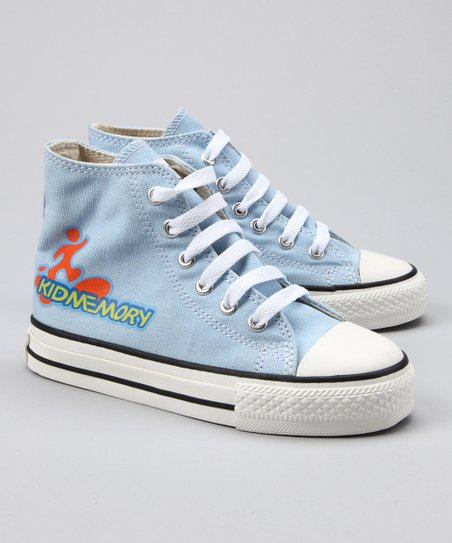 Light Blue Six Lace Hi-Top Sneaker