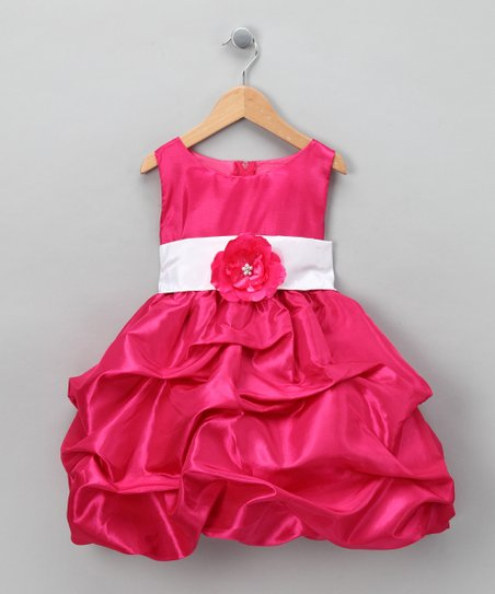 Fuchsia Fancy Bon Bon Dress - Infant, Toddler & Girls
