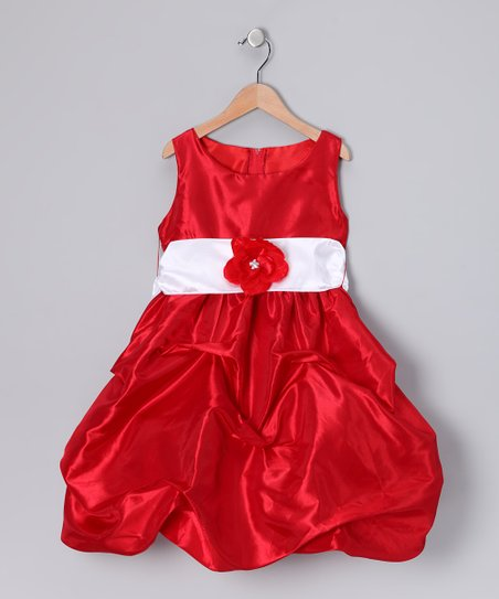 Red Fancy Bon Bon Dress - Infant, Toddler & Girls