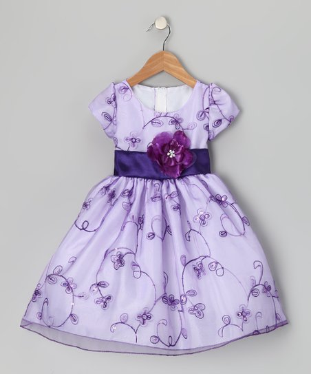 Lavender Flower Organza Dress - Infant, Toddler & Girls