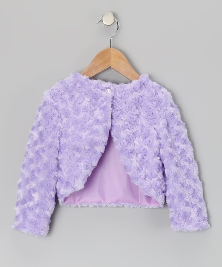 Lilac Faux Fur Bolero - Toddler & Girls