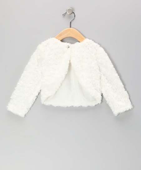 Ivory Faux Fur Bolero - Infant, Toddler & Girls