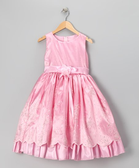 Pink Princess Embroidered Dress - Infant, Toddler &amp; Girls