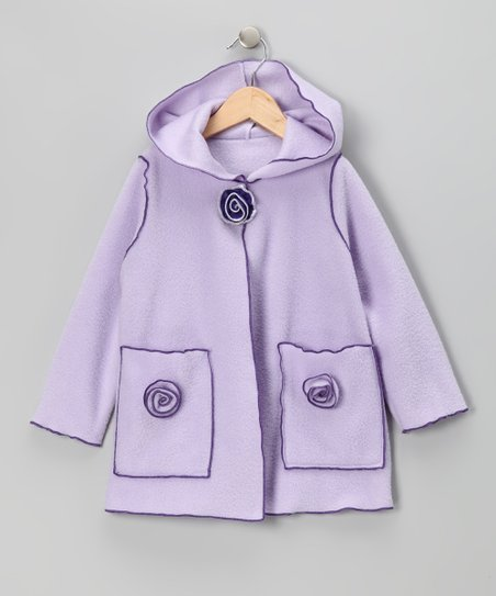 Lilac Flower Fleece Jacket - Infant, Toddler &amp; Girls