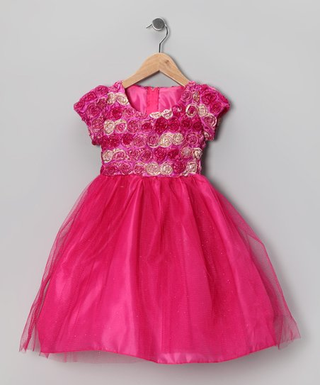 Fuchsia Rosette Dress - Infant, Toddler & Girls