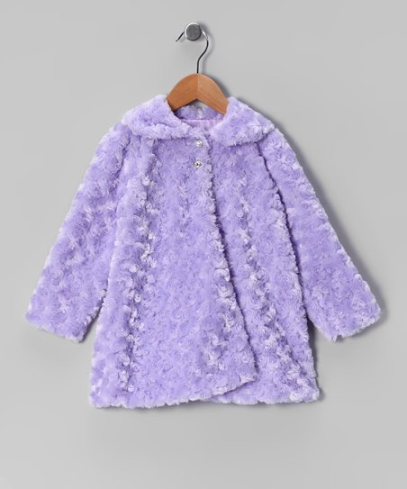 Lilac Minky Swirl Jacket - Infant, Toddler & Girls