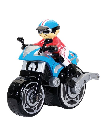 Blue Big Wheelie Remote Control Cycle