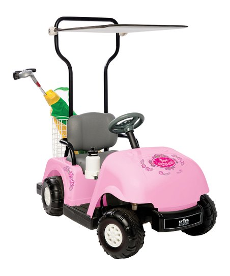 Pink Golf Cart Ride-On