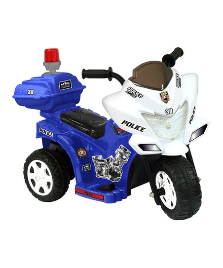 Blue &amp; White Lil&#039; Patrol Motorcycle Ride-On