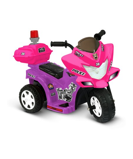 Purple &amp; Pink Lil&#039; Patrol Motorcycle Ride-On