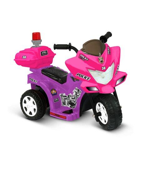 Purple & Pink Lil' Patrol Motorcycle Ride-On