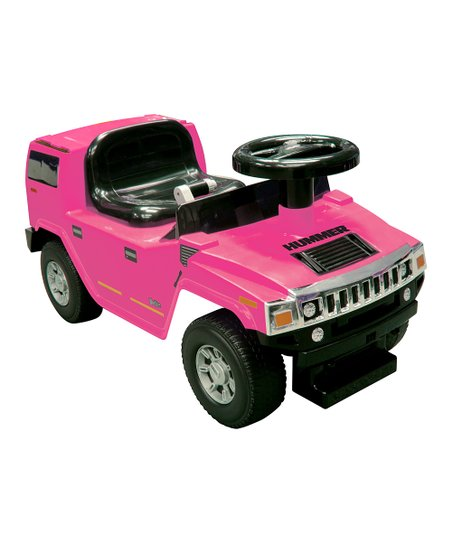 Pink Hummer H2 Foot-to-Floor Ride-On