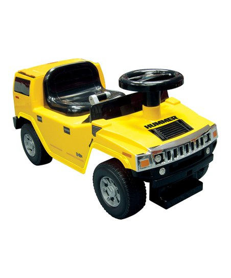Yellow Hummer H2 Foot-to-Floor Ride-On