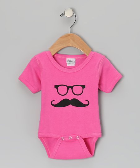 Pink Mustache Bodysuit - Infant