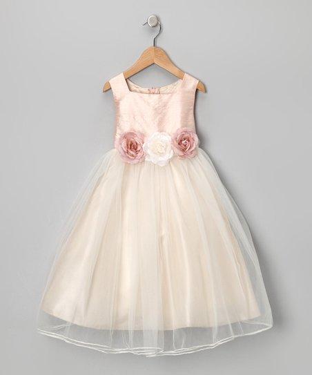 Dusty Rose Silk Dress - Infant, Toddler & Girls