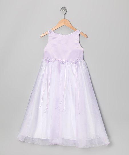Lavender Satin Organza Dress - Infant, Toddler & Girls