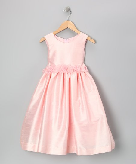 Pink Flower Tie Dress - Infant, Toddler & Girls