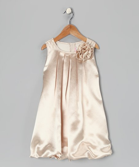 Champagne Rose Bubble Dress - Toddler & Girls