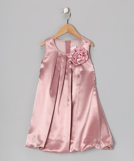 Mauve Rose Bubble Dress – Toddler & Girls