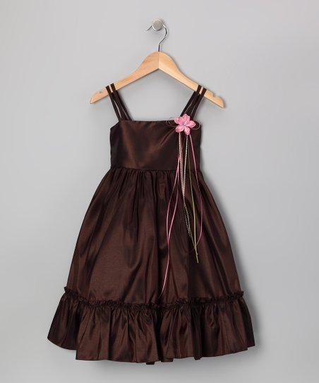Chocolate Ruffle A-Line Dress - Toddler & Girls