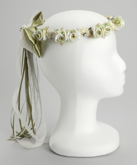 Sage Flower Bow Halo