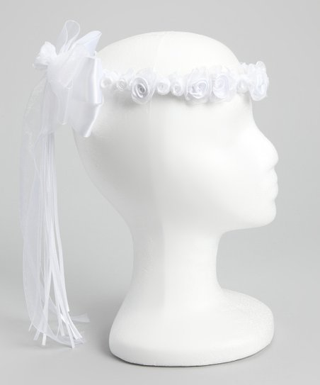 White Flower Bow Halo