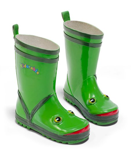 Green Frog Rain Boot