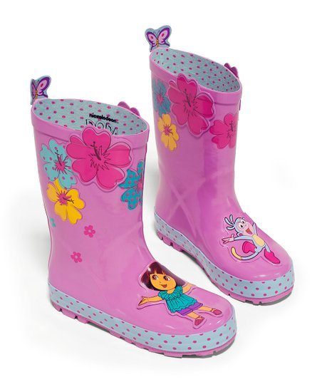 Pink Dora the Explorer Rain Boot