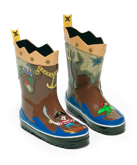 Brown Pirate Rain Boot