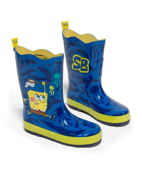 Blue SpongeBob Rain Boot