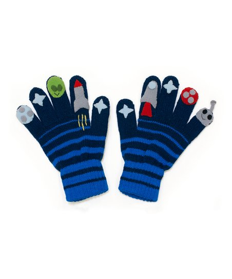 Blue Space Hero Gloves