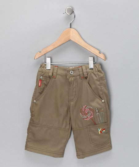 Beige Lollipop Cargo Shorts - Toddler & Boys