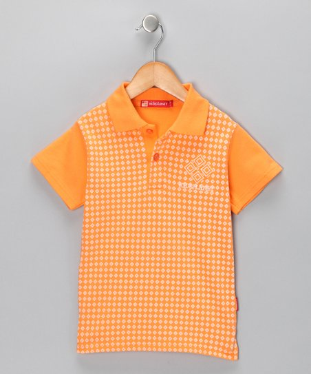 Orange Diamond Polo - Boys