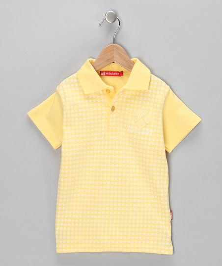 Yellow Diamond Polo - Toddler & Boys