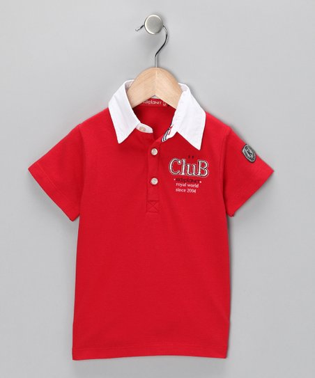 Red &#039;Club&#039; Polo - Infant, Toddler &amp; Boys