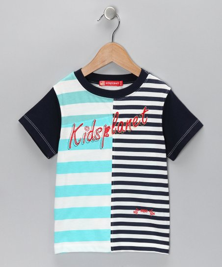 Black & Turquoise Stripe Tee - Infant, Toddler & Boys