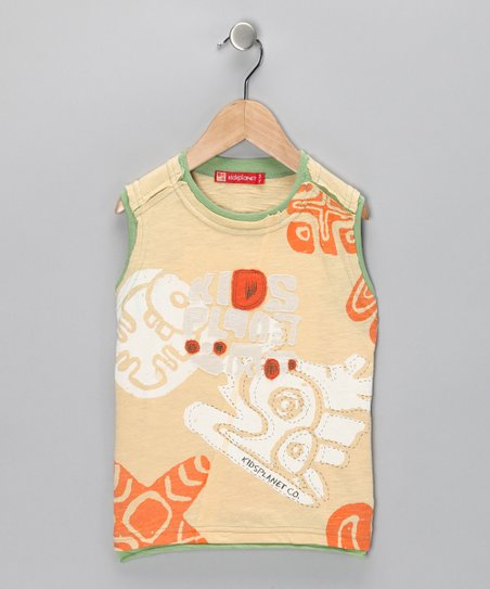 Light Yellow Jungle Tank - Toddler & Boys