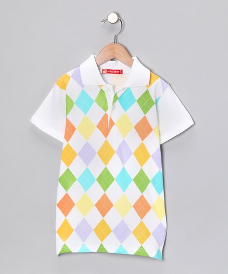 Rainbow Argyle Polo - Infant & Boys