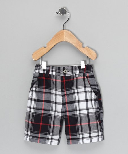 Black Plaid Shorts - Infant, Toddler & Boys