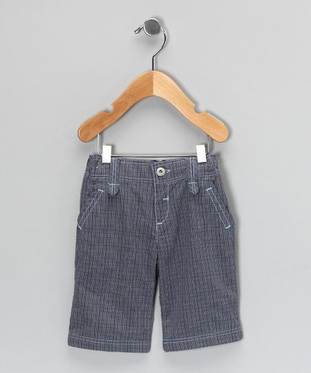 Blue Plaid Shorts - Infant